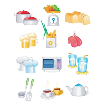 Kitchen tool vector set