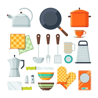 Kitchen tools for cooking.