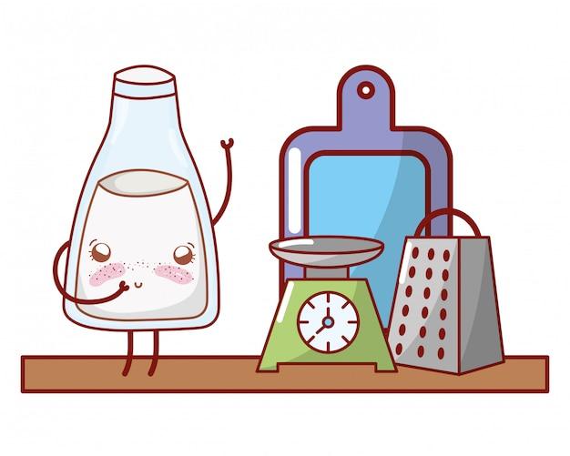Kitchenware and ingredients cartoon