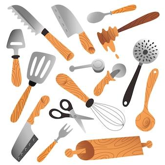 台所用品隔離された調理器具