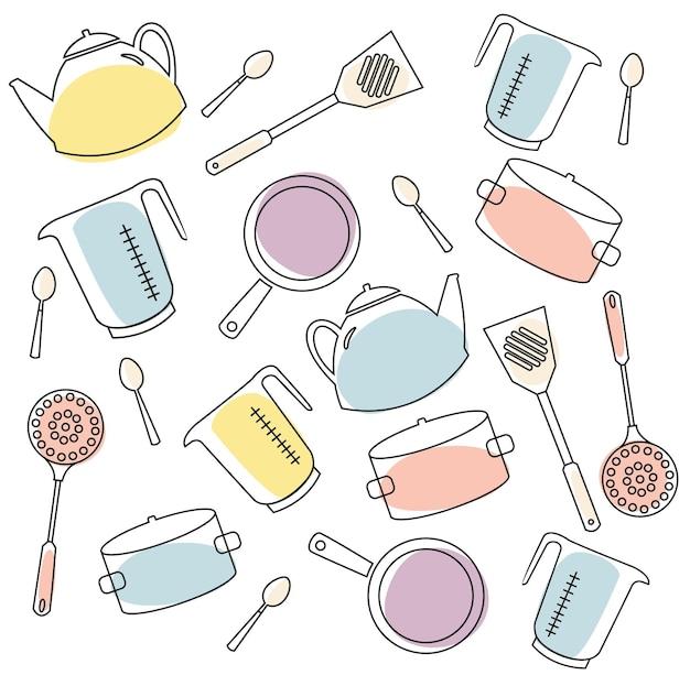 台所用品のパターン