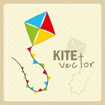 Kite  design over dotted background vector illustration