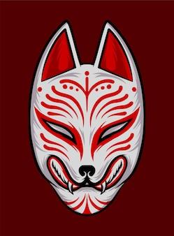 Японская маска кицунэ