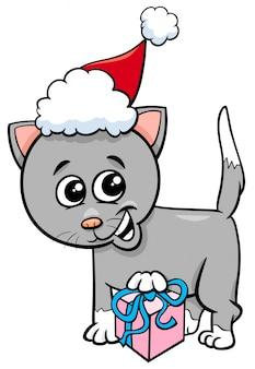 クリスマスの贈り物漫画と子猫