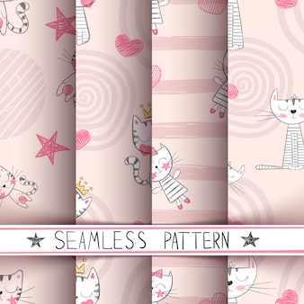 Kitty seamless pattern
