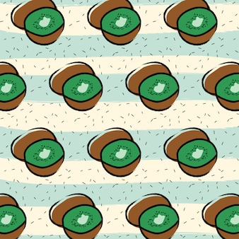 Kiwi fruit pattern background
