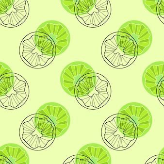 Kiwi fruits repeat pattern. seamless textile background template