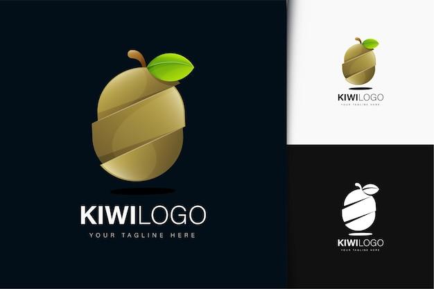 グラデーションのキウイロゴデザイン
