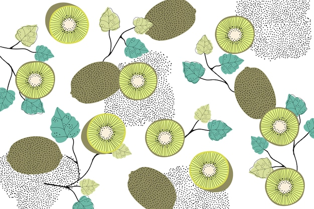 Kiwi patterned background