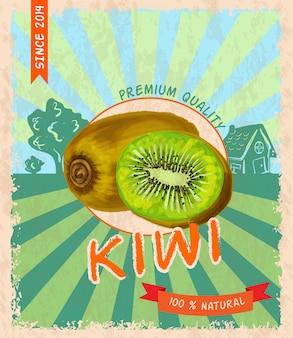 Kiwi retro poster