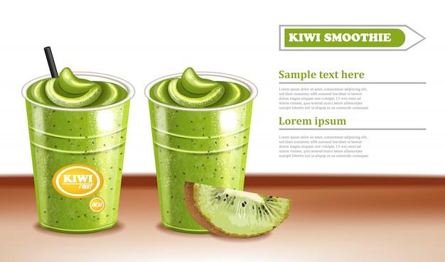 Kiwi smoothie cocktail