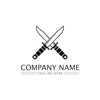 Knife and chef kitchen icon vector cutlery kitchen utensils symbol for cooking design logo