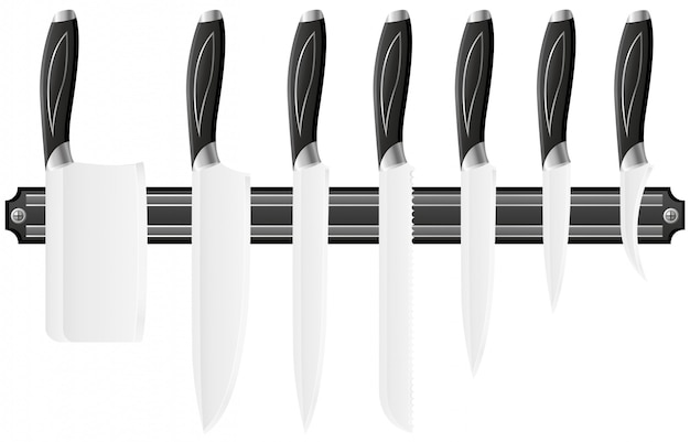 Knife set for the kitchen.