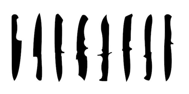 Knife tool silhouette