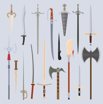 Knifes weapon  illustration.