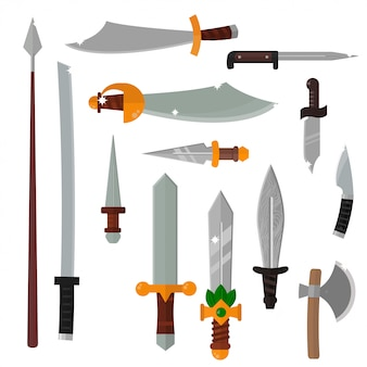 Knifes weapon.