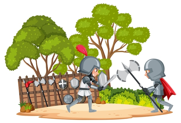 Knight ancient army fighting for kingdom