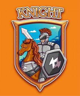 Knight badge on orange