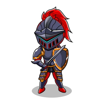 Knight chibi esport mascot logo