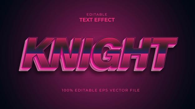 Рыцарь красочный текстовый эффект редактируемый векторный файл eps Premium векторы