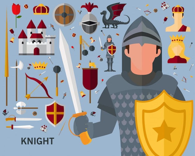 Knight concept background.