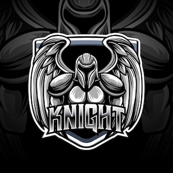 Рыцарь киберспорт логотип персонаж значок