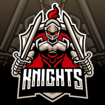 騎士の頭のマスコット。 eスポーツロゴ