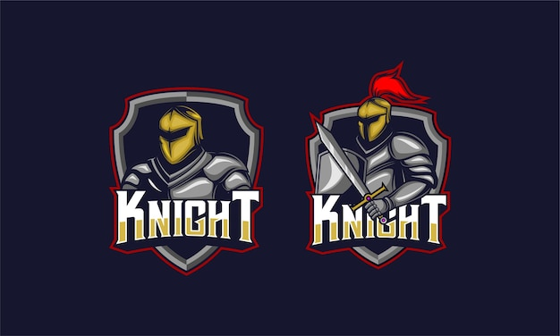 騎士の兜と剣のエンブレム