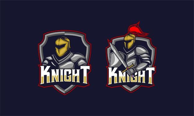 Knight helmet and sword emblem