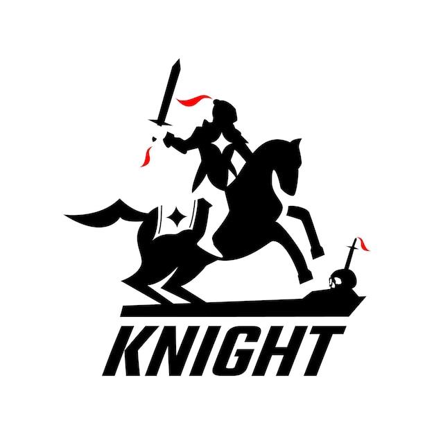 Knight on horse logo design