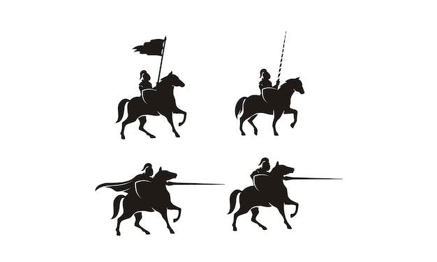 Knight on horse logo design