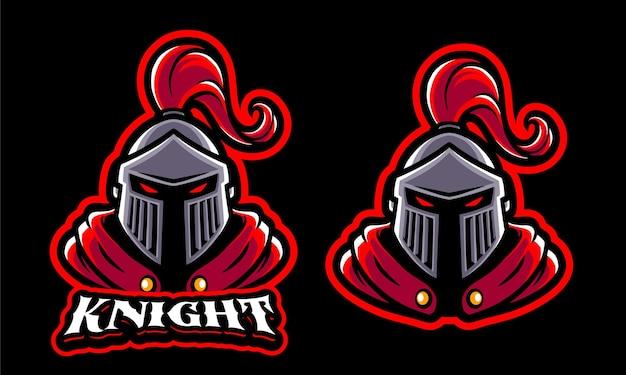 Шаблон логотипа рыцаря иллюстрации