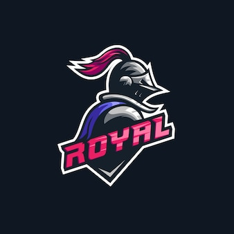 Knight illustration premium logo
