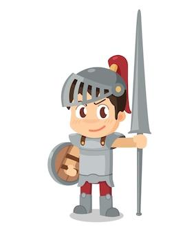 A knight. illustration.