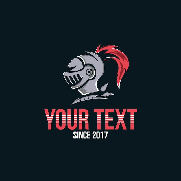Knight logo, knight head warrior for esports gamer logo