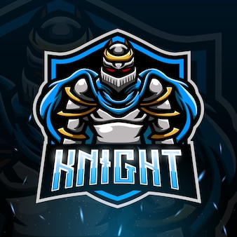 Knight mascot esport illustration