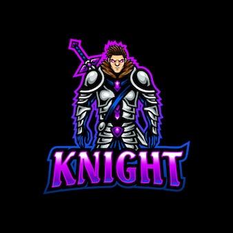 Рыцарь талисман логотип киберспорт
