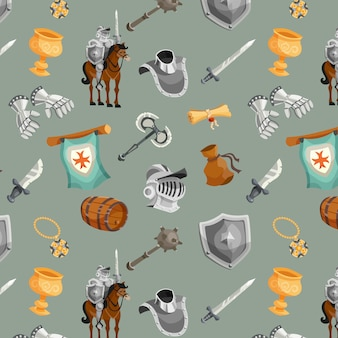 Knight seamless pattern