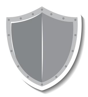 Рыцарь щит мультяшный стикер