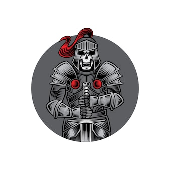 Knight skull mascot