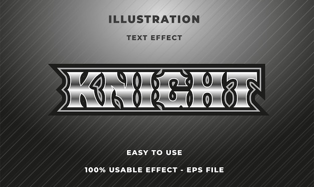 Knight text effect