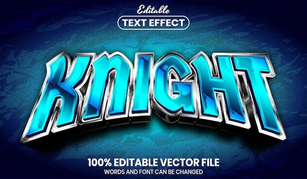 Текст рыцаря, редактируемый текстовый эффект стиля шрифта