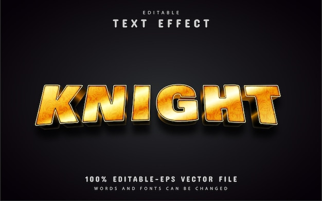 Knight text, gold style text effect