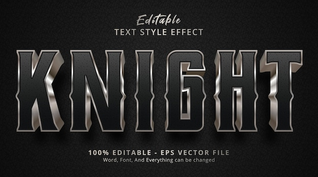 Knight text on movie style effect, editable text effect