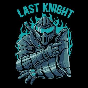 Knight warrior robot illustration