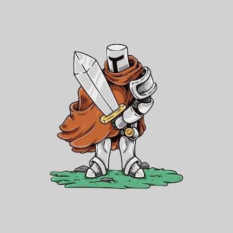 ケープと剣の騎士