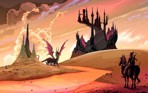 ドラゴンと馬の騎士