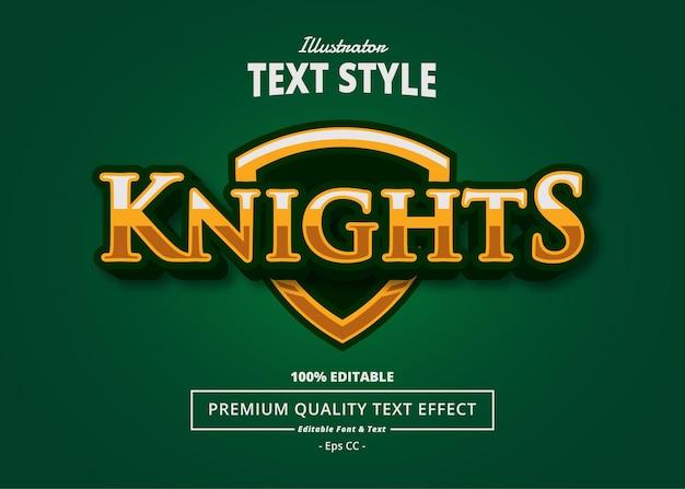Knights illustrator text effect