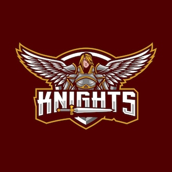 Knights mascot logo design