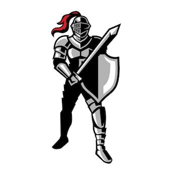 戦う準備ができた騎士